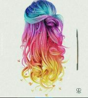 rainbow hair colorhair