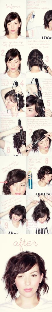 short wavy hair tutorials