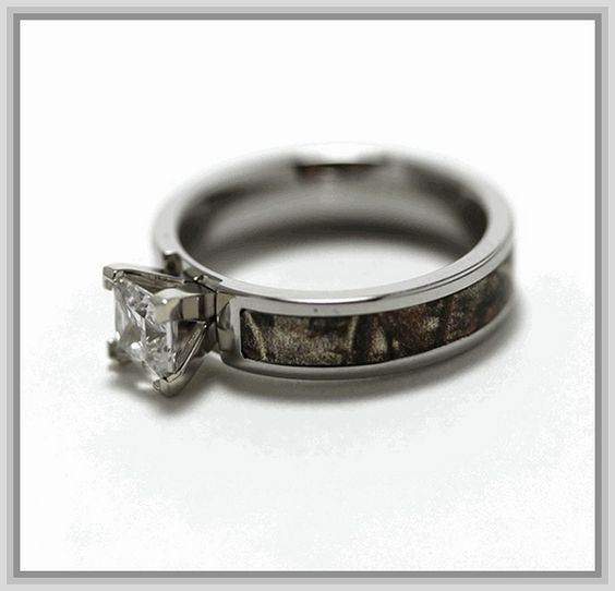 Camo Wedding Rings for Him and Her