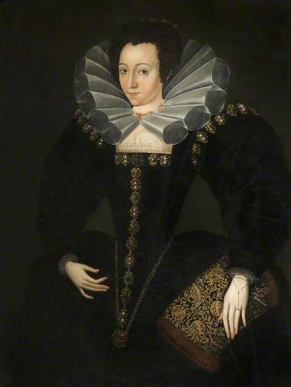 Portrait of a Lady in Court Dress by Marcus Gheeraerts the younger (school of):