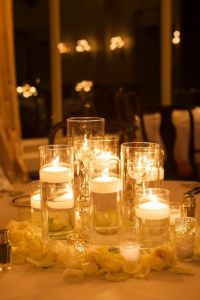 Romantic table setting for wedding
