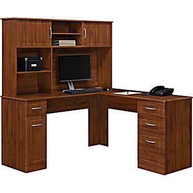 Lshaped desk  staples  Home office  Pinterest