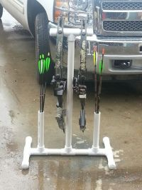 Quick pvc bow stand   Bow Life   Pinterest   Recurve bows ...