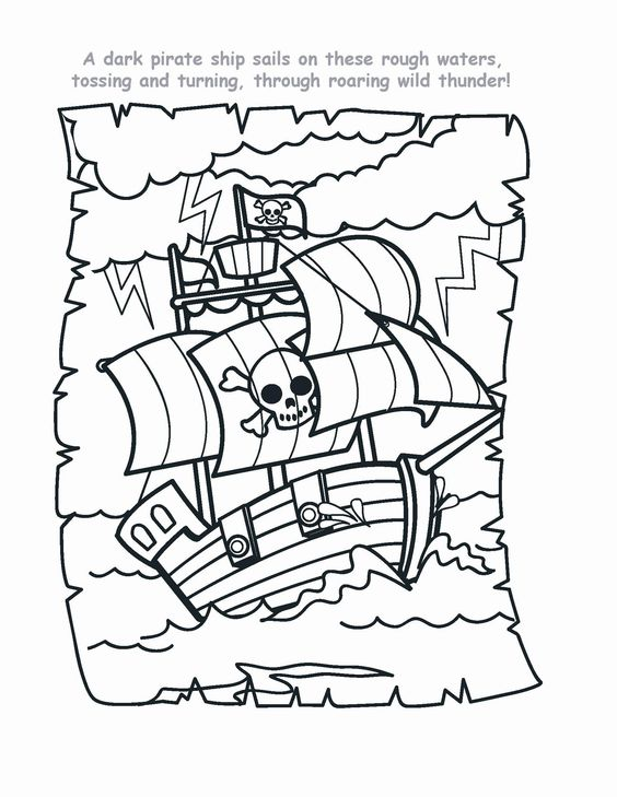 Coloring, Coloring pages and Pirates on Pinterest