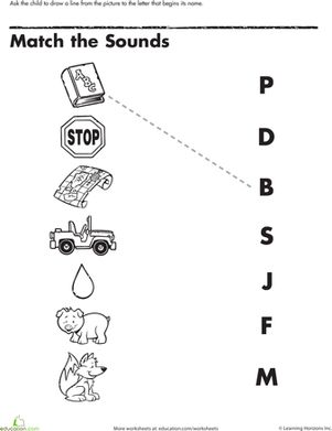 Beginning sounds, Phonics and Worksheets on Pinterest