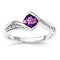 Amethyst rings, White gold diamonds and White gold on ...