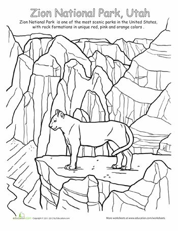 National parks, Parks and Coloring on Pinterest