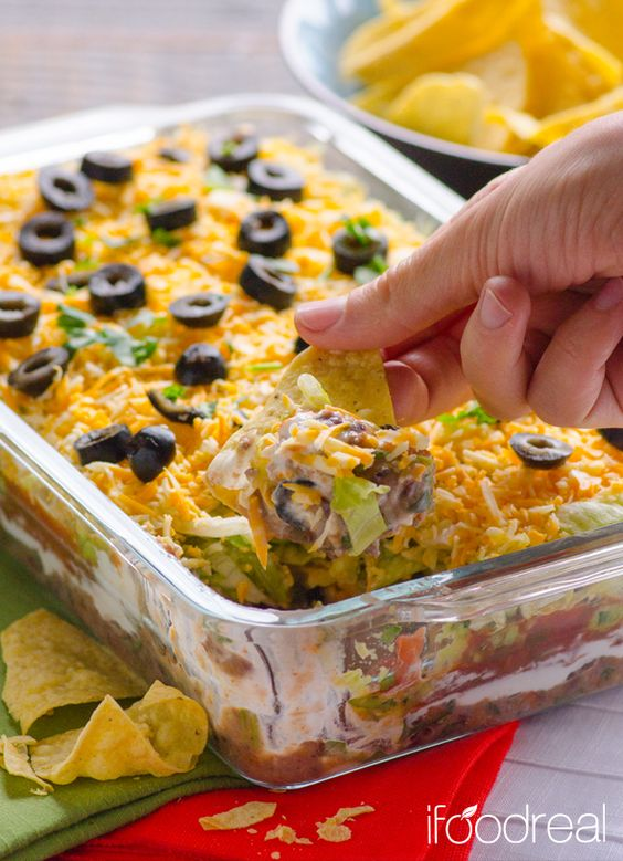 7 layers Layer dip and Tex mex on Pinterest