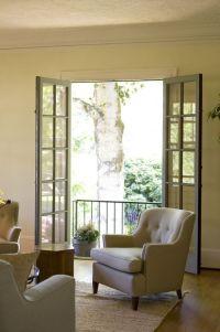 Sitting room w/ French doors to Juliet balcony | Juliet ...