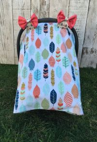 Custom Baby Girl Car Seat Cover Set, Boho Chic Car Seat ...