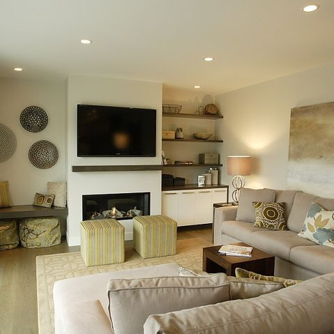 Electric Fireplace Design Ideas  L i v i n g R o o m