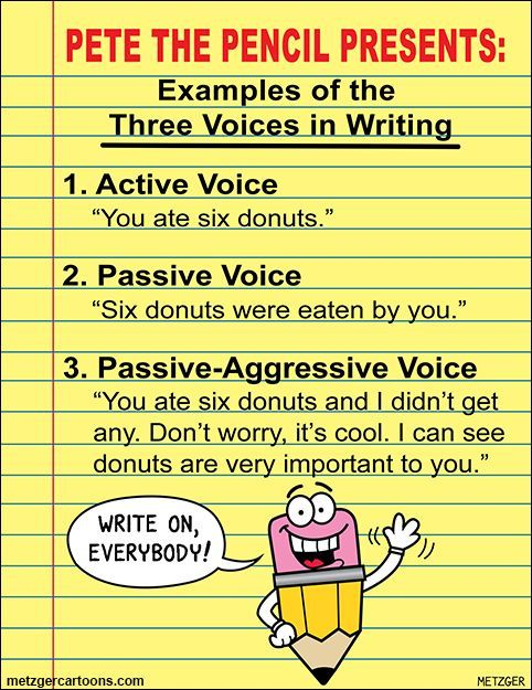 passive voice essay example