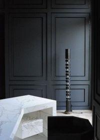 Wall paneling in black | P | Matt Black Walls with Carrara ...