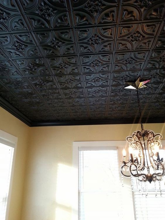 black decorative tin ceiling tiles chandelier home
