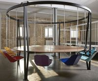 Swinging Chairs Round Table | Business meeting, Conference ...