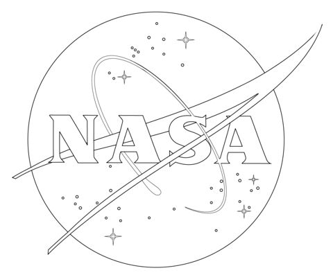 NASA Logo coloring page from Spaceships category. Select from 20946 printable crafts of cartoons