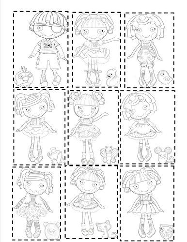 Lalaloopsy, Printable coloring pages and Coloring pages on