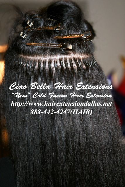 Micro bead hair extensions. Extensions and Remy hair on Pinterest