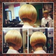 short chin length aline bob