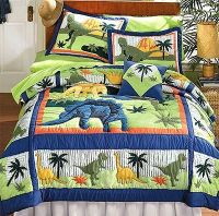 Dinosaurs - Bed Quilt Bedding Set - Full-Double Size ...