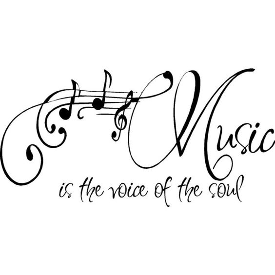 QUOTE-Music is the voice of the soul-special buy any 2
