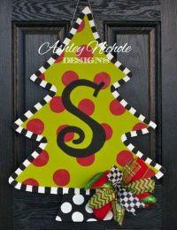 Christmas Tree Door Hanger - Ashley Nichole Designs ...