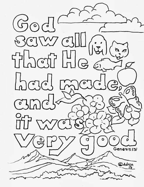 Coloring Pages for Kids by Mr. Adron: Bible Verse