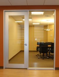 office door with side window