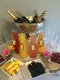 Mimosa bar, Baby showers and The o'jays on Pinterest