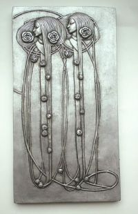Pretty Mackintosh Art Nouveau Deco Style Wall Plaque ...