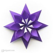 flower design and origami