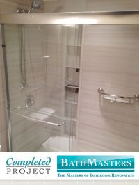 This shower was renovated with the Kohler Choreograph ...