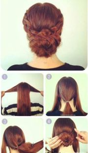 dignified simple updo hairstyle