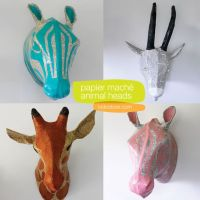 papier-mache-animal-head-wall-art | Craft Projects ...