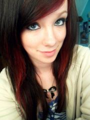 dyed hair two-tone brown