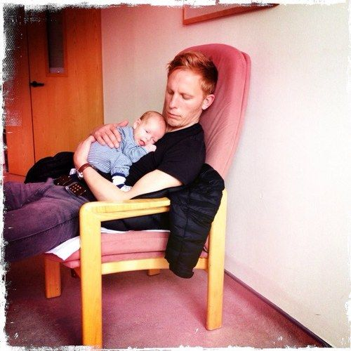 Laurence Fox with his son. Awwwwww *wibbles*: