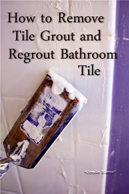 How To Regrout Bathroom Tile