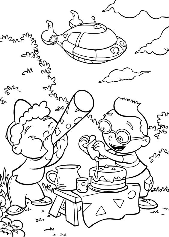 Little Einsteins coloring pages for kids, printable free