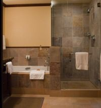 Rustic Walk-In Shower Designs | doorless-shower-designs ...