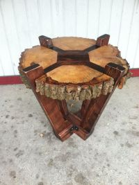 Log Slab Side Table or Coffee Table / Rustic by ...