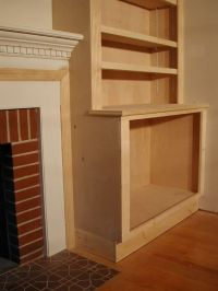 Picture of how to build cupboard beside fireplace | How to ...