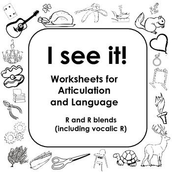 Coloring Worksheets for Articulation of R and R blends: I