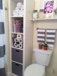 bathroom storage styling - ikea expedit shelf | New House ...