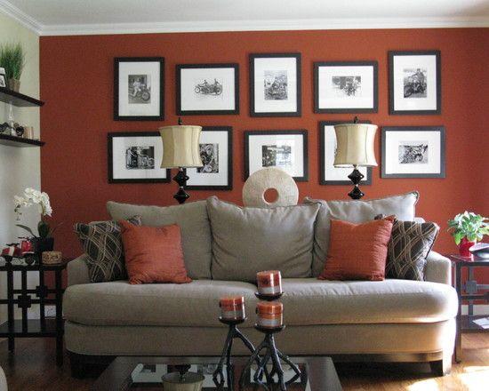 Living Room Terra Cotta Teal Design, Pictures, Remodel