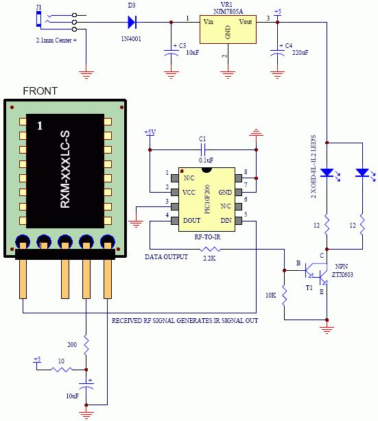 Metal Detector Using Beat Frequency Oscillator Electronic Diagram