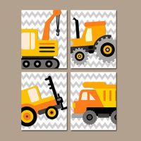 CONSTRUCTION Wall Art, BABY BOY Nursery Decor, Truck Wall ...