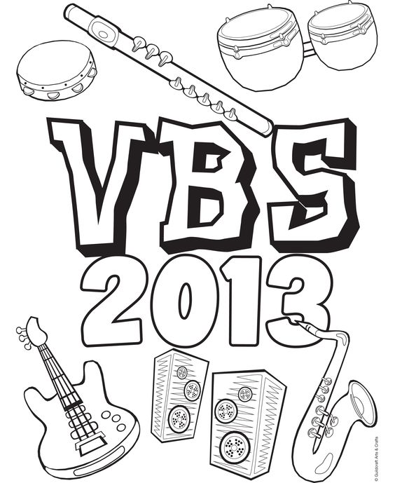 Free Hip Hop VBS 2013 coloring sheet from Guildcraft Arts