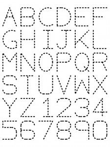 Traceable Alphabet- Find the symmetry lines for each word