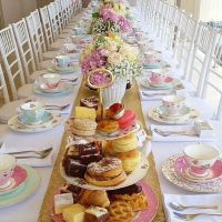 Tea party bridal/baby shower inspiration. If you're ...