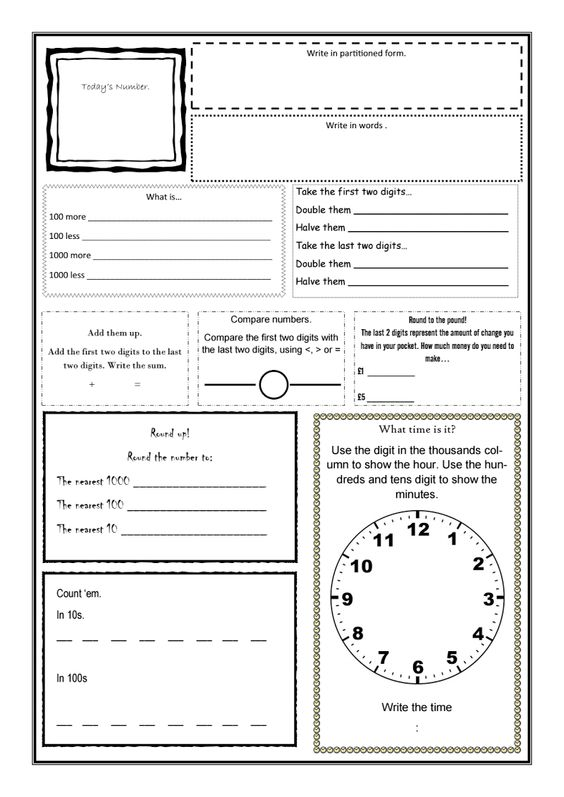 Math sheets, Daily math and Math on Pinterest